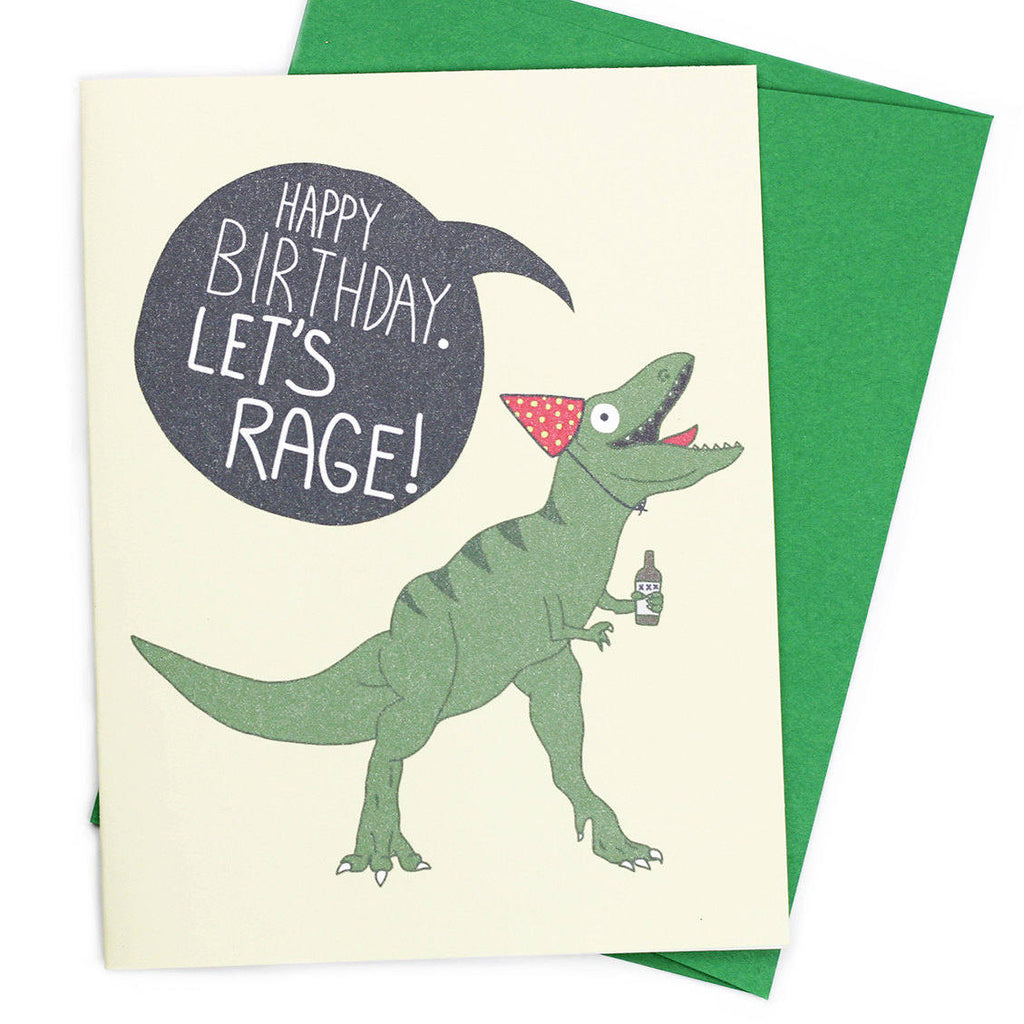 Let's Rage! Birthday Greeting Card