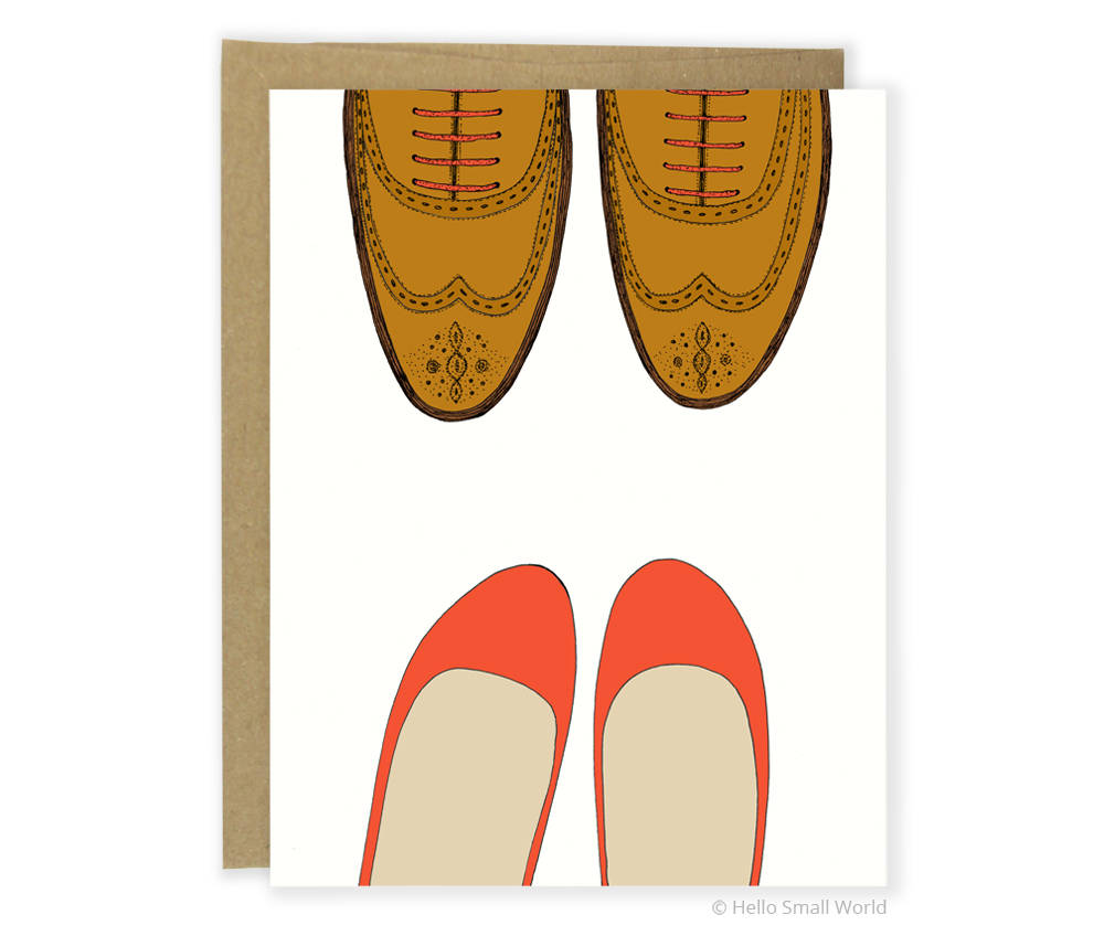 Lover's Shoes Greeting Card