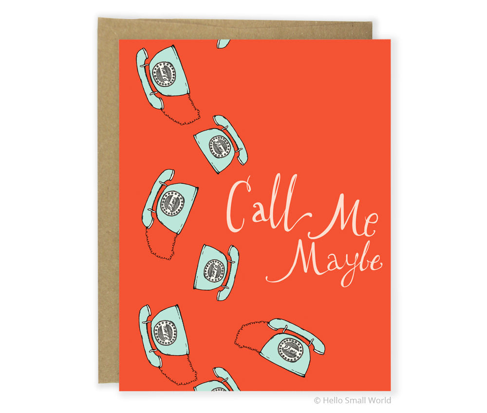Call Me Greeting Card
