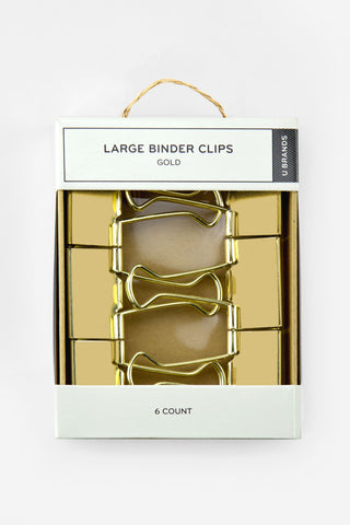 Large Gold Binder Clips