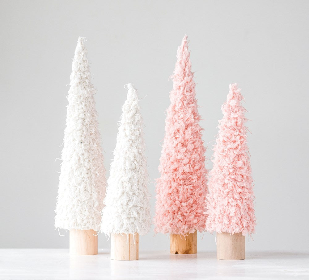 Cream Boho Shag Trees
