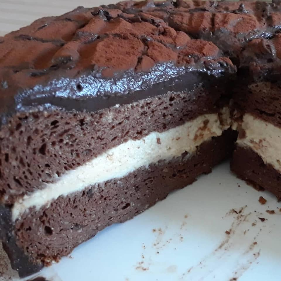 Keto Friendly Low Carb Chocolate Peanut Butter Cake