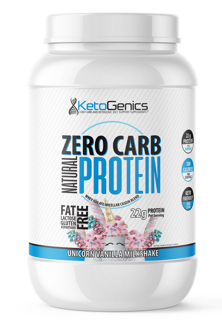 Zero Carb Keto Friendly Vanilla Milkshake protein powder