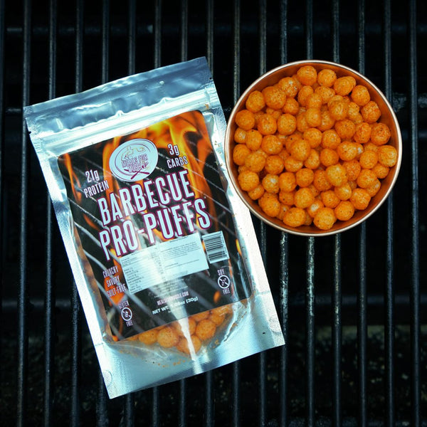 Barbecue Flavor Low Carb Protein Snack Puffs