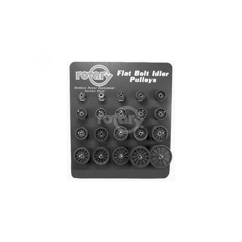 Rotary - 10125 - ASSORTMENT FLAT IDLER COMPOSITE PULLEYS - Rotary Parts Store