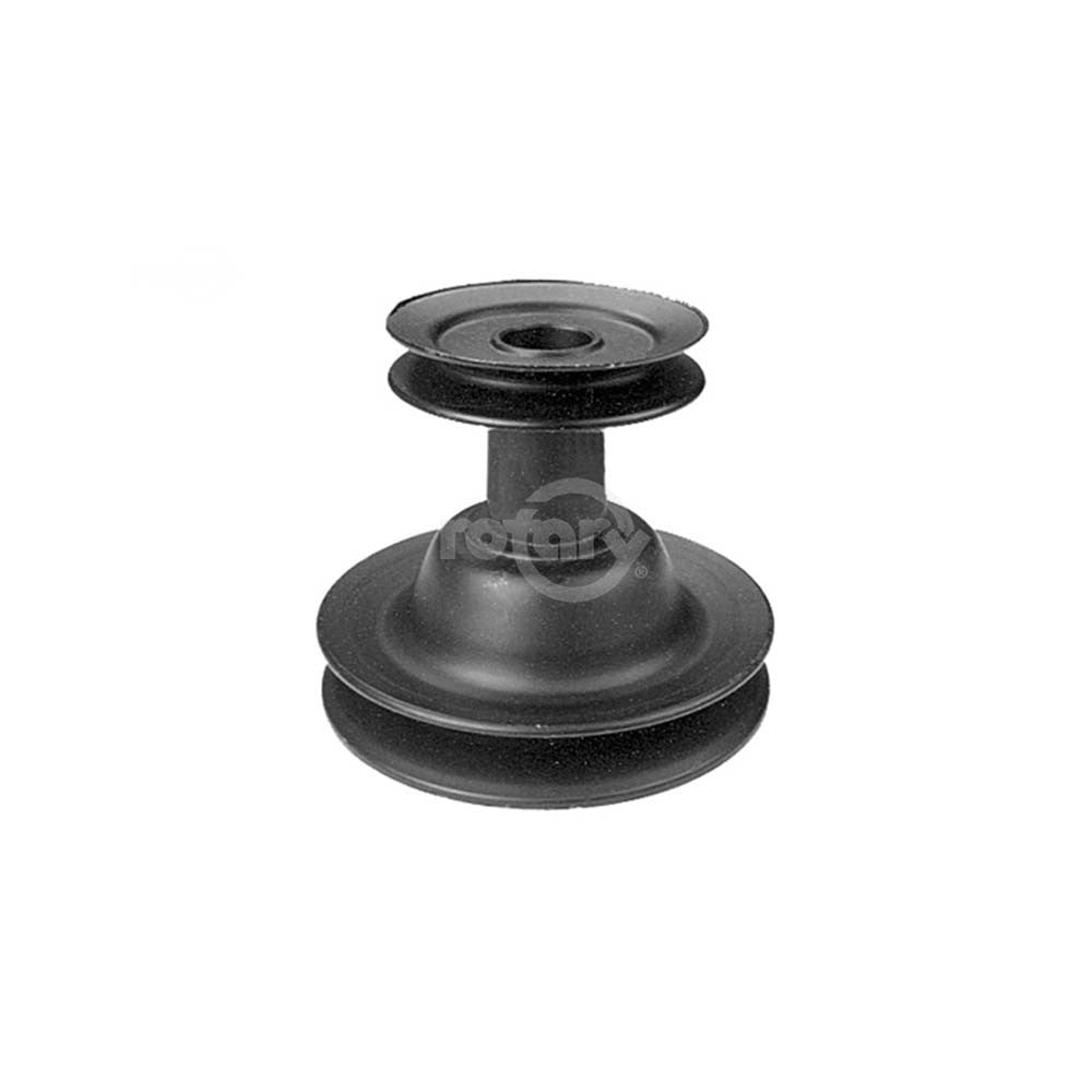 "Rotary - 10186 - PULLEY DOUBLE ENGINE 1""X3-1/2"" TOP-5-1/2""BOTTOM MTD - Rotary Parts Store"