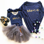 MAMA+MINI NAVY LONGSLEEVE SET