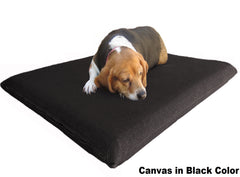 "Dogbed4less 3"" Memory Foam Pet Bed in Canvas Black Color"
