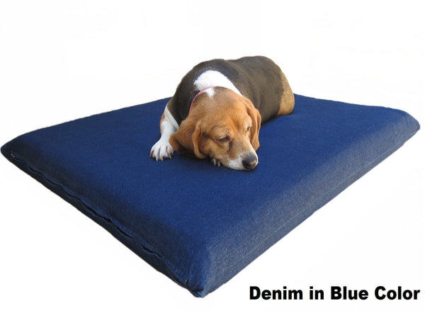 "Dogbed4less 3"" Memory Foam Pet Bed in Denim Blue Color"