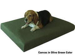 "Dogbed4less 3"" Memory Foam Pet Bed in Canvas Olive Green Color"