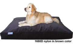Dogbed4less Shredded Memory Mix Foam Dog Pillow in 1680 Nylon brown cover