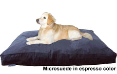 Dogbed4less Shredded Memory Mix Foam Dog Pillow in Microsuede espresso cover
