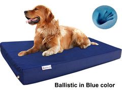 Dogbed4less Premium Orthopedic Cooling Memory Foam Pad Bed in 1680 Nylon Blue Cover