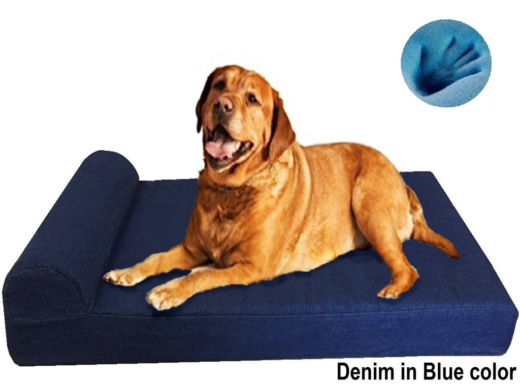 Sale Head Rest Memory Foam Dog Bed   3 Sizes In 9 Colors