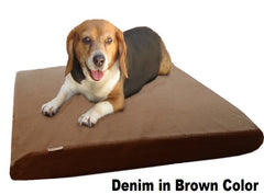 "Dogbed4less 3"" Memory Foam Pet Bed in Denim Brown Color"