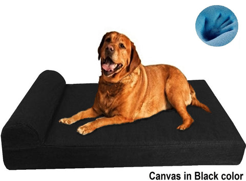 Dogbed4less HeadRest memory foam dog bed