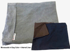 Dogbed4less DIY Cover in Microsuede Gray
