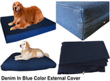 Dogbed4less External Denim Cover in Blue