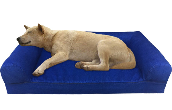 Premium Orthopedic Gel Memory Foam Pet Sofa Bed  - 2 Sizes in 3 Colors