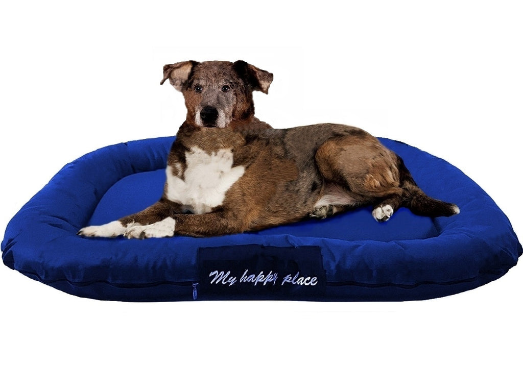 Durable Bolster Pet Bed with Waterproof Oxford Cover- 2 Sizes in 3 Colors