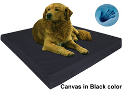 Dogbed4less Premium Orthopedic Cooling Memory Foam Pad Bed in Canvas Black Cover