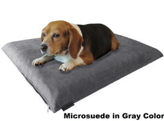 "Dogbed4less 3"" Memory Foam Pet Bed in Microsuede Gray Color"
