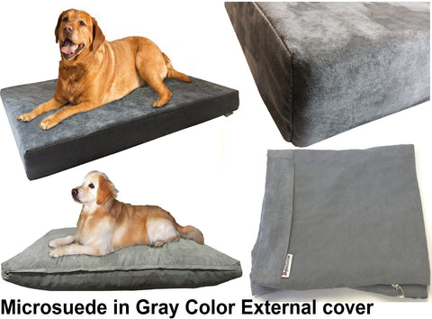 ... Dogbed4less External Microsuede Cover In Gray Color ...