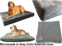 Dogbed4less External Microsuede Cover in gray color