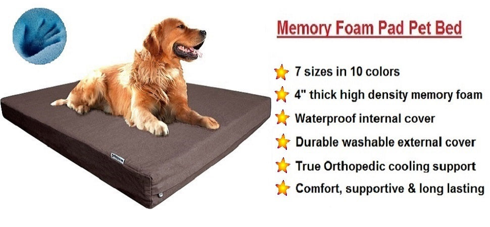 Dogbed4less Memory foam Pad Bed