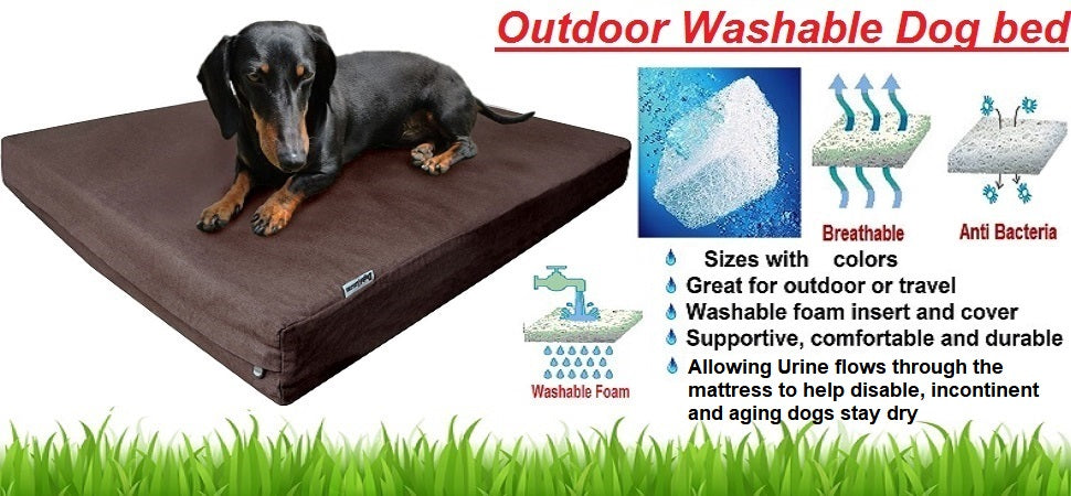 Dogbed4less Outdoor Washable Pet Bed