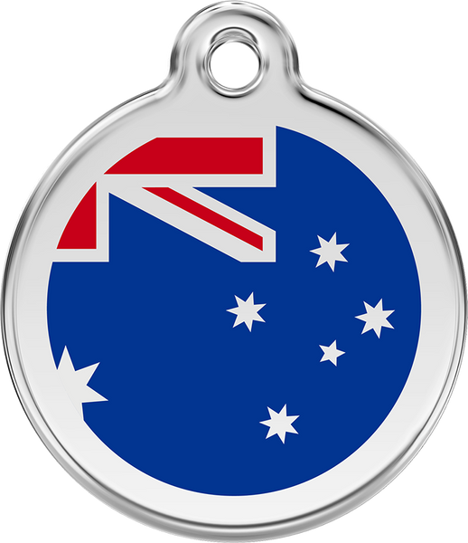 Red Dingo - Australian Flag ID Tag | Krazy For Pets