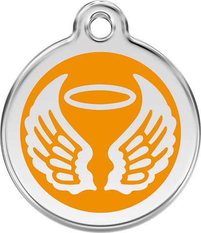 Red Dingo - Angel Wings ID Tag | Krazy For Pets