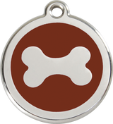 Red Dingo - Dog Bone ID Tag | Krazy For Pets