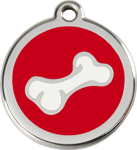 Red Dingo - Bone ID Tag | Krazy For Pets