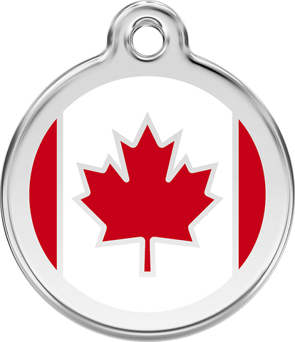 Red Dingo - Canadian Flag ID Tag | Krazy For Pets
