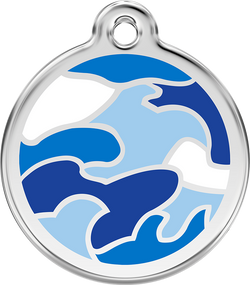 Red Dingo - Blue Camouflage ID Tag | Krazy For Pets