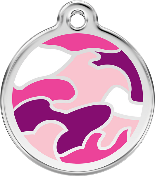 Red Dingo - Pink Camouflage ID Tag | Krazy For Pets