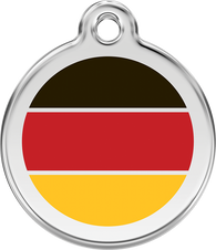 Red Dingo - German Flag ID Tag | Krazy For Pets