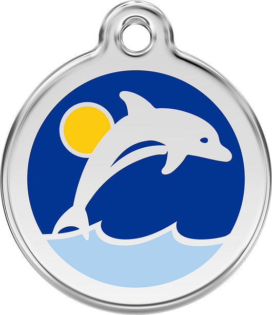 Red Dingo - Dolphin ID Tag | Krazy For Pets
