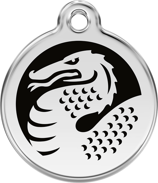 Red Dingo - Black Dragon ID Tag | Krazy For Pets