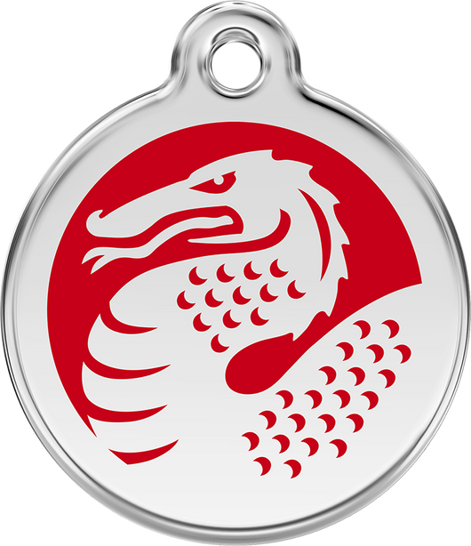 Red Dingo - Red Dragon ID Tag | Krazy For Pets