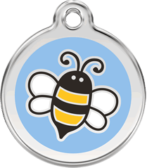 Red Dingo - Blue Bumble Bee ID Tag | Krazy For Pets