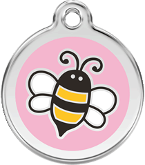 Pink Bumble Bee ID Tag