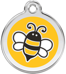 Red Dingo - Yellow Bumble Bee ID Tag | Krazy For Pets
