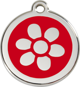 Red Dingo - Flower ID Tag | Krazy For Pets