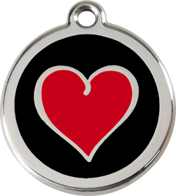Red Dingo - Red Heart ID Tag | Krazy For Pets