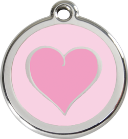 Red Dingo - Pink Heart ID Tag | Krazy For Pets