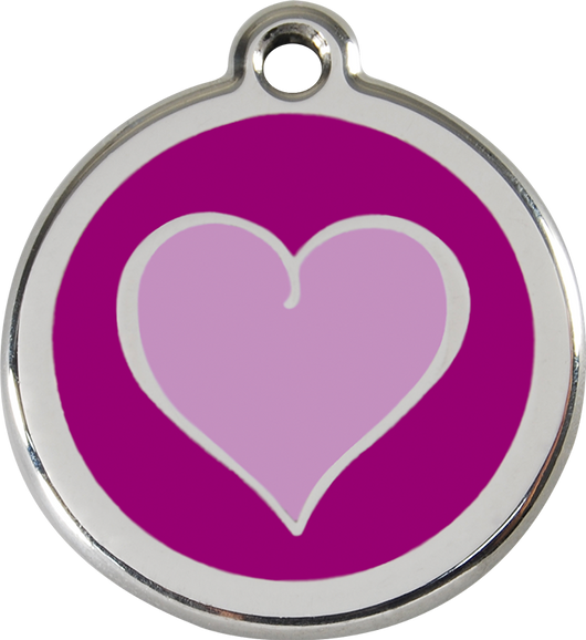 Red Dingo - Purple Heart ID Tag | Krazy For Pets