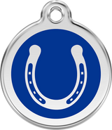 Red Dingo - Horseshoe ID Tag | Krazy For Pets