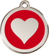 Red Dingo - Heart ID Tag | Krazy For Pets